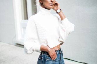 hello fall forever 21 turtleneck white crop top 501 levis mom jeans nude pumps fall street style // charleston fashion blogger dannon k collard like the yogurt